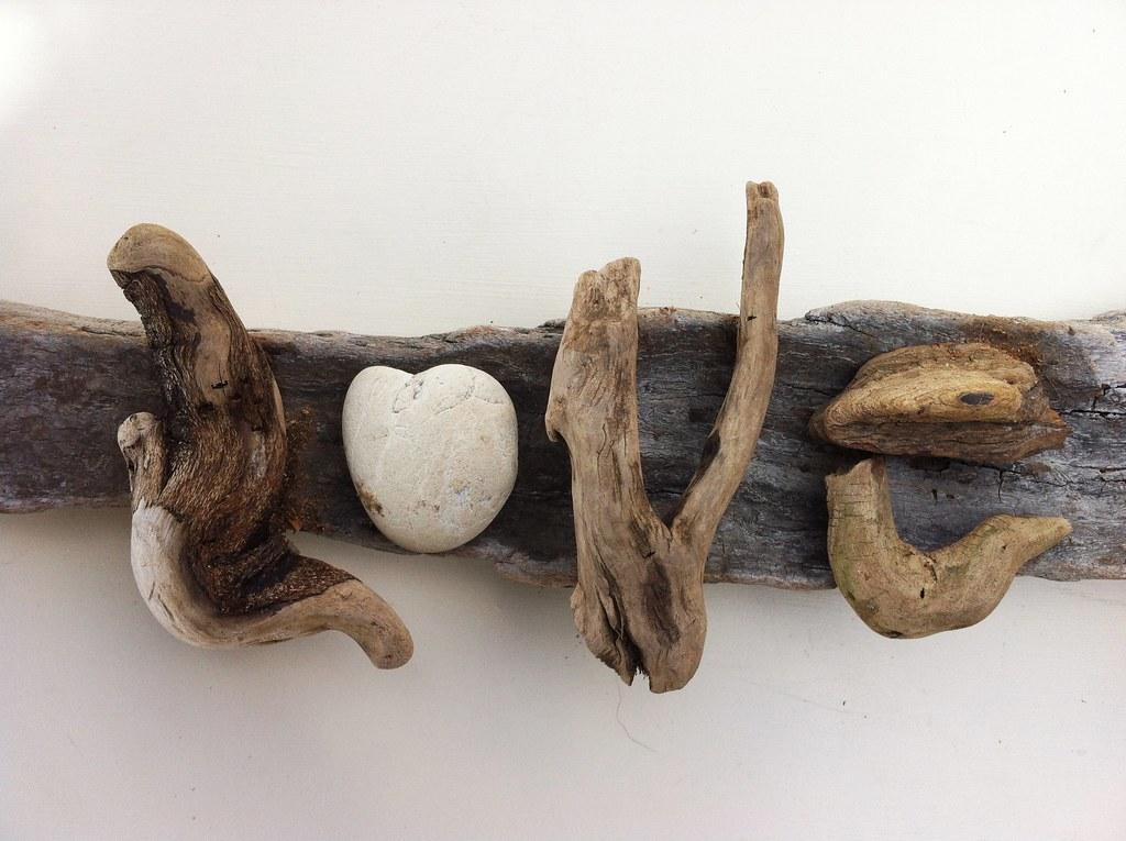 driftwood art love driftwood art handmade by. Black Bedroom Furniture Sets. Home Design Ideas