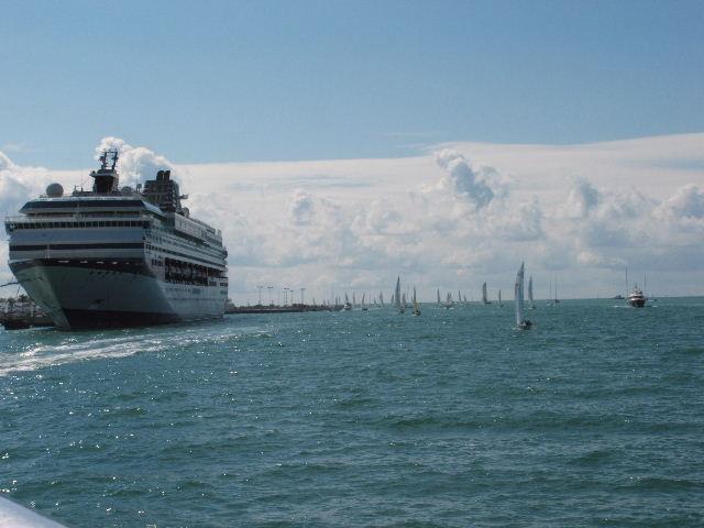 Cruise Ship From Glass Bottom Boat Key West  Roy Richard