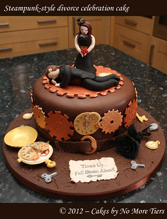 Steampunk-style divorce cake | by Cakes by No More Tiers (York)