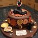 Steampunk-style divorce cake