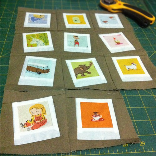 Heather Ross polaroid mini quilt | by Two Cheese Please