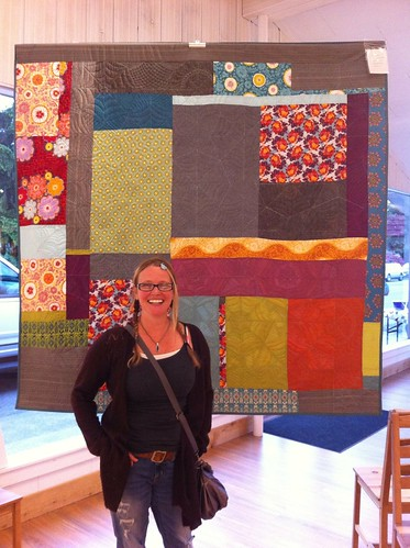 K2 and the back of the spiderweb quilt | by Spotted Stone Studio {Krista}