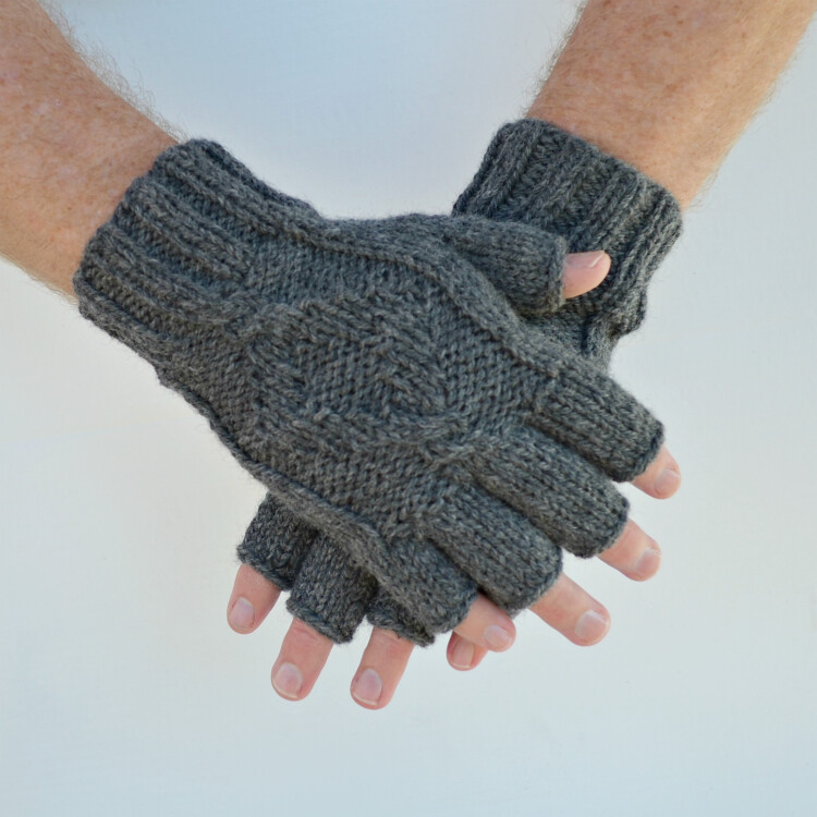 Mens Fingerless Gloves Town Hand Knit 100 Wool Tanya Flickr