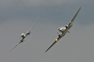 Douglas Dakota formation 'F-AZOX' & 'LN-WND' - Legends 2011 | by Hawkeye UK