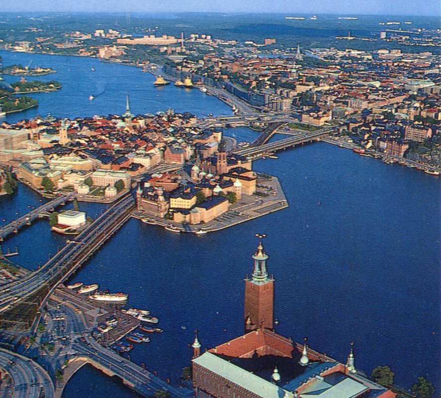 Stockholm Gamla Stan And Slussen From Air Postcard Flickr