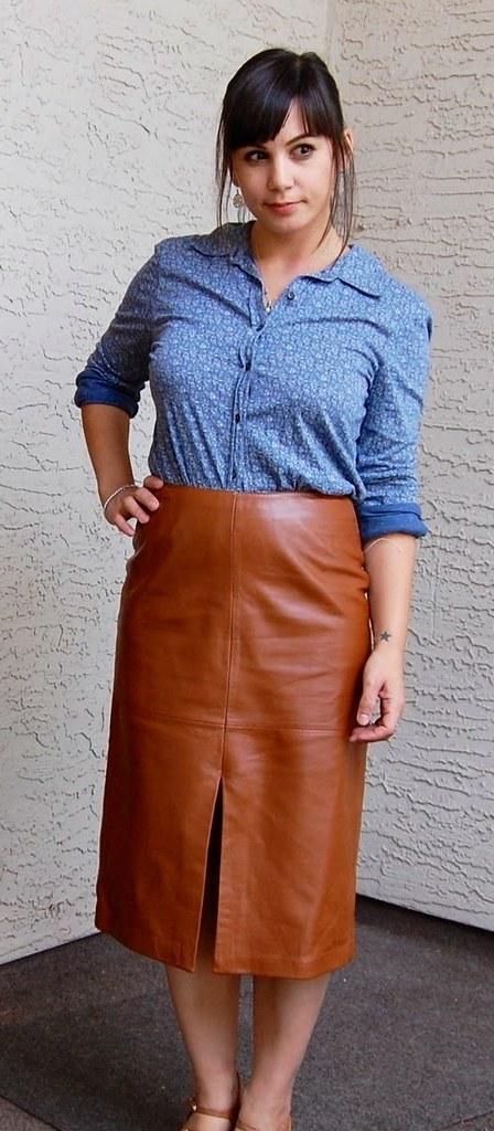Brown leather skirt | Short Hair LVR | Flickr