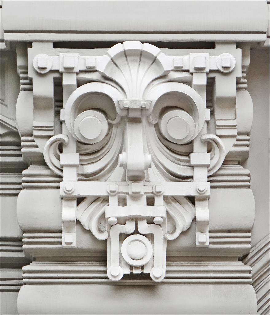 Immeuble art nouveau riga motif d coratif de l - Art nouveau architecture de barcelone revisitee ...