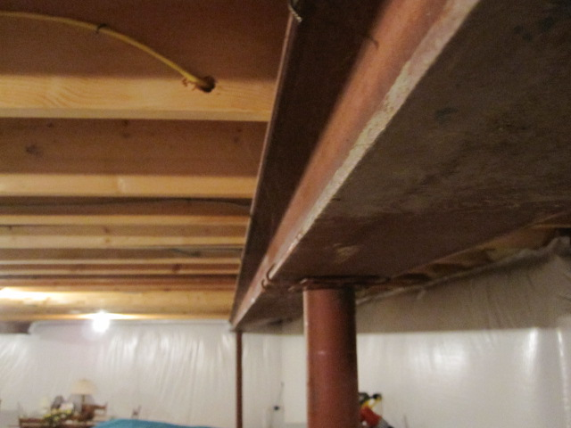 Basement Steel Beam Please Feel Free To Use This Photo