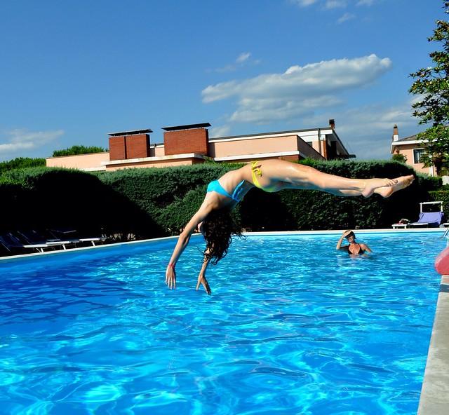 jump swimming pool
