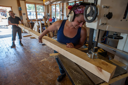 Us Shaping a Rafter | by goingslowly