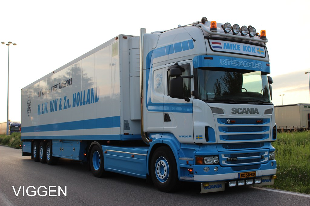 Kok Halland : MIKE KOK  Holland  Scania Topline V8 R730  VIGGEN R500  Flickr