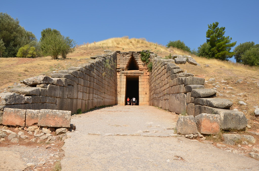 Treasury of Atreus   Entrance, Treasury of Atreus.   Mr G ...