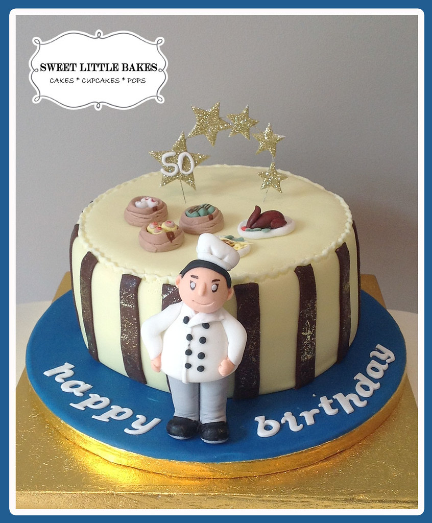 50th Birthday Cake For A Chinese Chef Miniature Chinese D Flickr