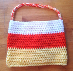 Candy Corn crochet Halloween treat bag