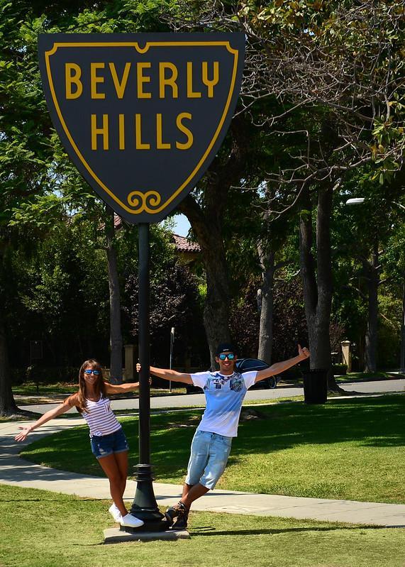 Una de las señales de Beverly Hills en Los Angeles