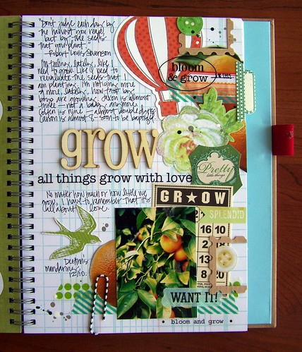 Grow smash book page a page in my red everyday themed for Garden design ideas book