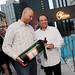 Assistant Winemaker Ronald du Preez with Mike Glazer of Glazers - Jordan Winery 40th anniversary party at The Joule Hotel