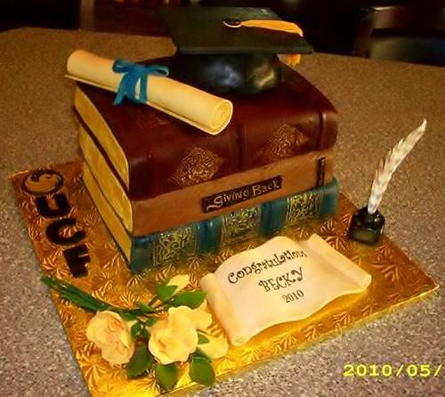 Red Velvet Graduation Cake