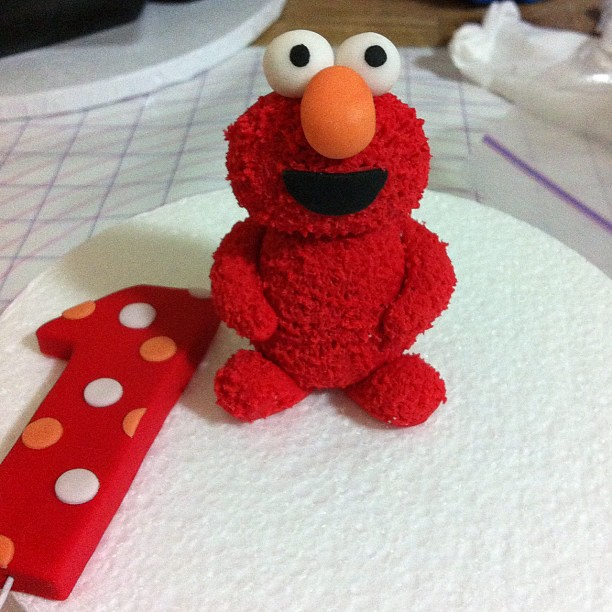 Elmo Cake Toppers Decorations : Baby Elmo cake topper catherine Flickr