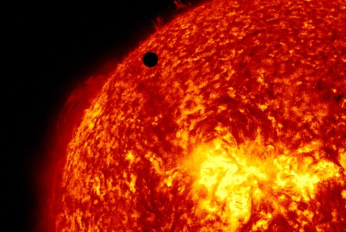 SDO's Ultra-high Definition View of 2012 Venus Transit - 304 Angstrom | by NASA Goddard Photo and Video