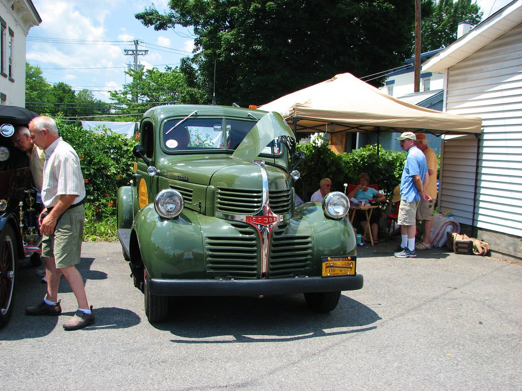 A 1946 dodge pick up in july 2012 at the 2012 sawyer for Sawyer motors used cars