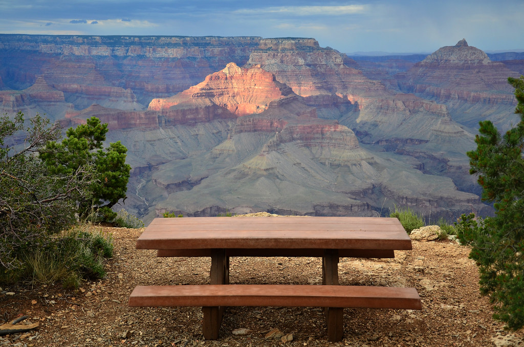 Grand Canyon National Park: View from Shoshone Point 8400 ...