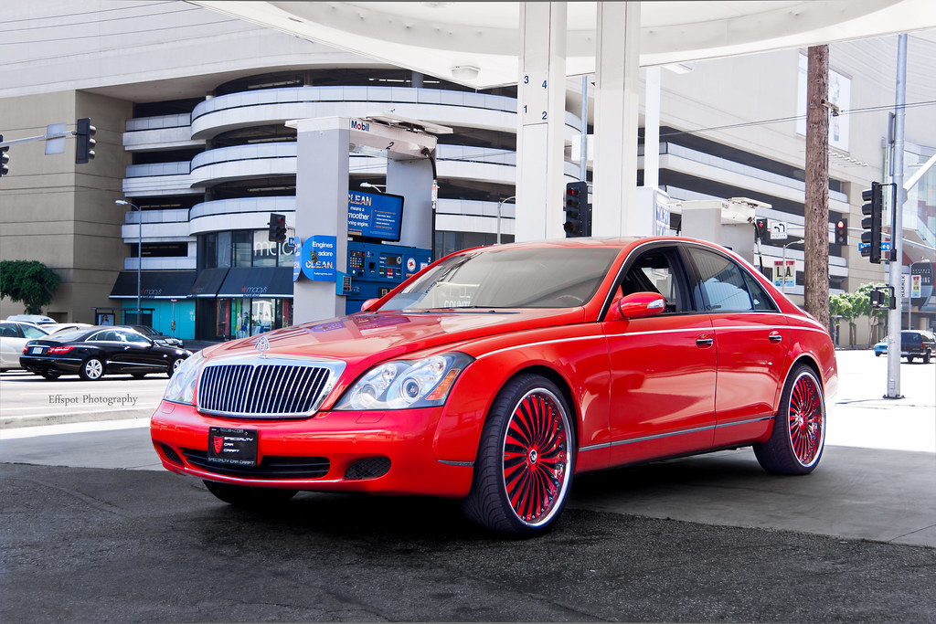 Gloss Red Maybach Filling Up Yeah Visit My Facebook
