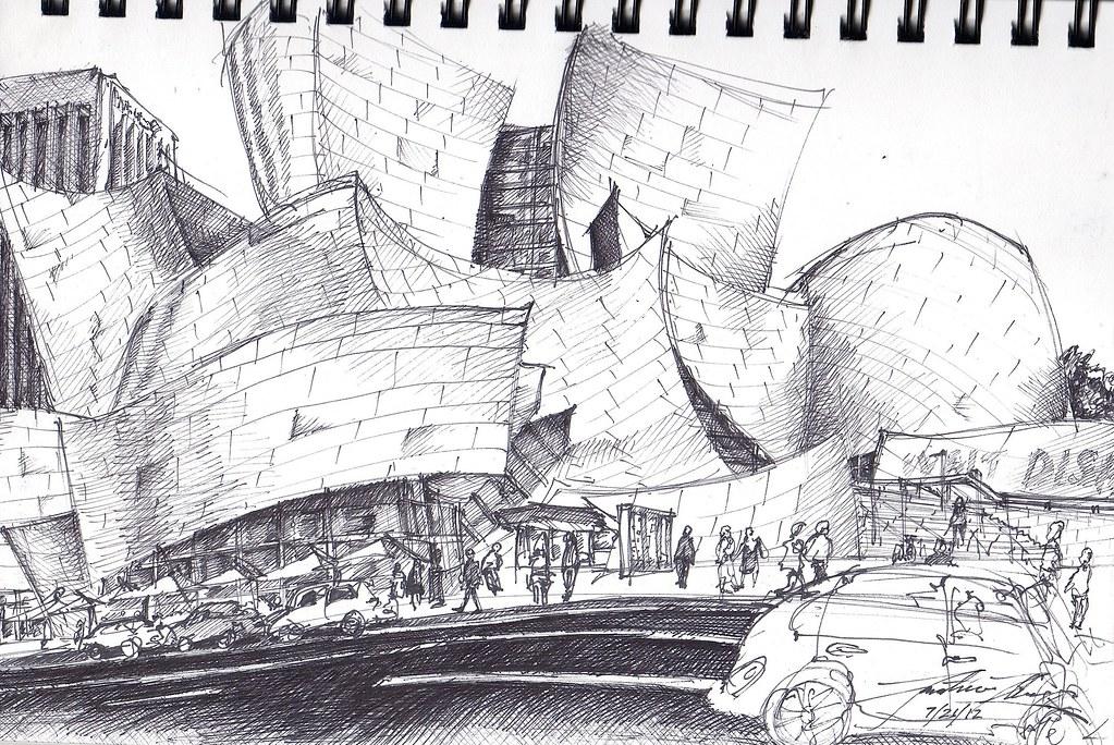 Walt Disney Concert Hall Pen Sketch Of Walt Disney Concert Flickr