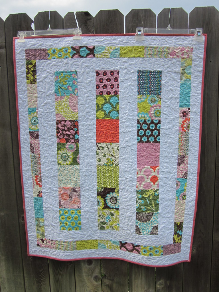 Sugar Pop Baby Quilt Charm Pack Quilt Made With The Moda