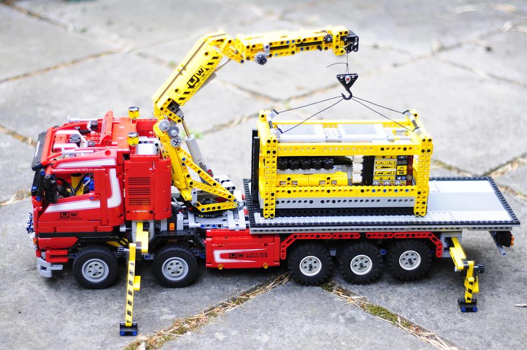 Lego Crane Truck Lego Modified Crane Truck 2