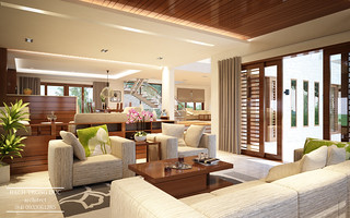 Villa Interior Design - Living Room | by Santasel