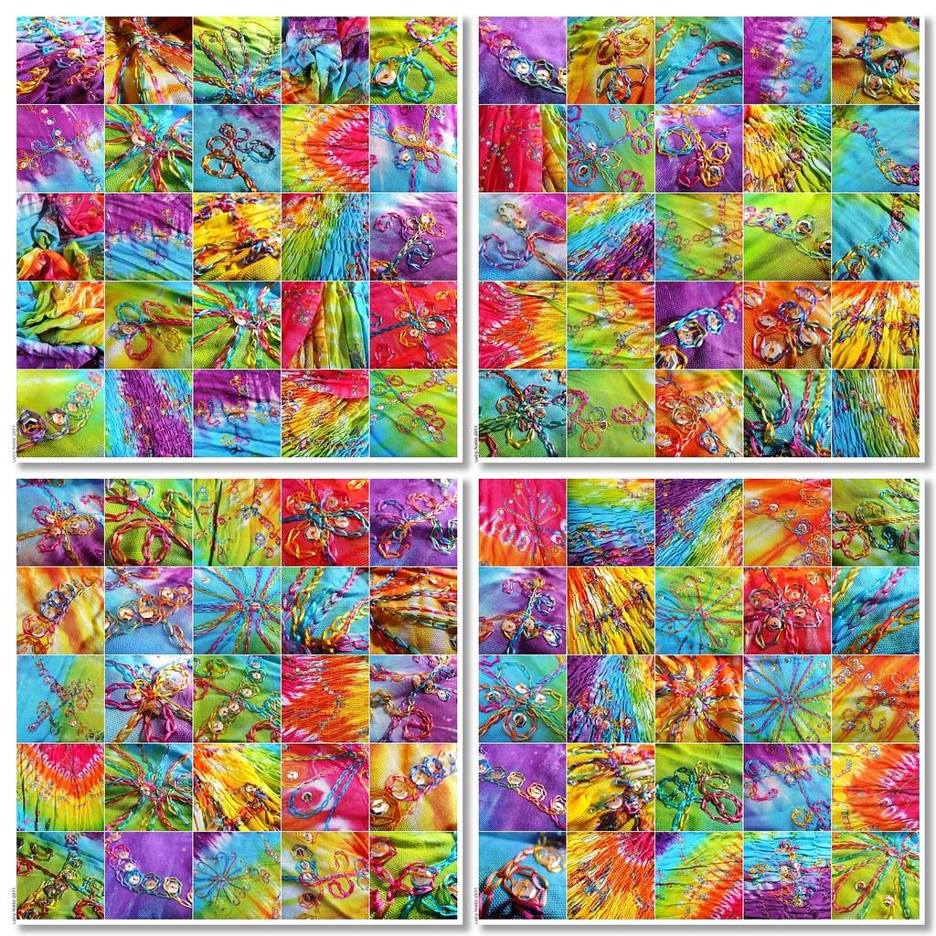 Mosaico de vestido de colores con lentejuelas ii m xico flickr - Mosaico de colores ...