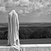 "The mourning figure of ""Mother Canada"" on the Canadian National Vimy Memorial, France."