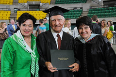 Mrs. Jill Brown, Charlie Ball and Dr. Mary Ann Rollans