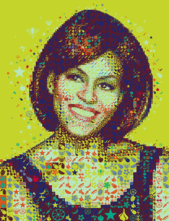 A colorful Michelle Obama for Hemispheres magazine | by tsevis