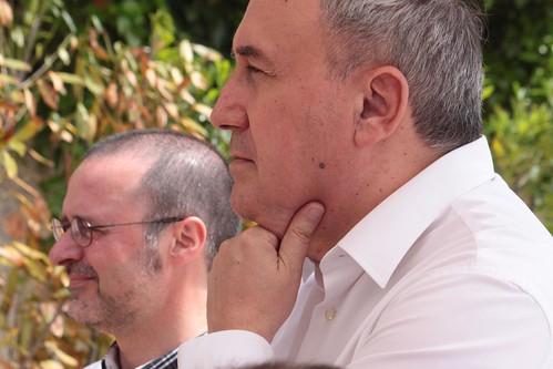 Iñaki Murua y Mikel Agirregabiria en la comida final 3ª Temp. Tertulia Bilbaina