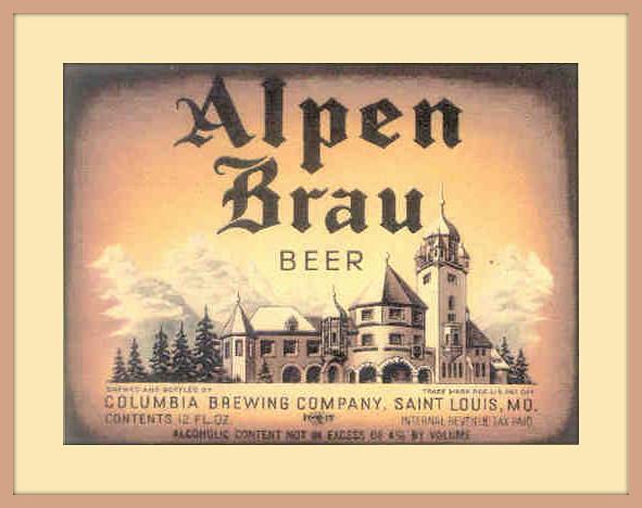 1905  u0026 39 alpen brau u0026 39  columbia brewing company st  louis mo