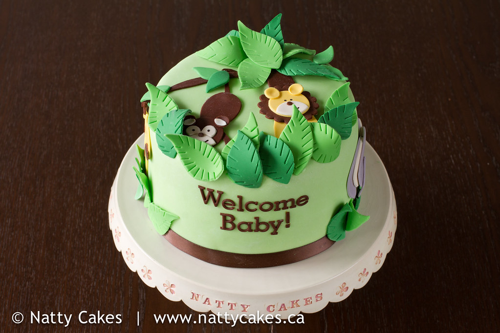 jungle theme baby shower cake the customer is from newfoun