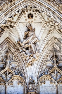 Detail of the main facade in the Cathedral of Toledo | by Sebastian Condrea