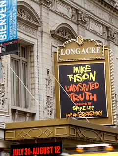Mike Tyson: Undisputed Truth @ Longacre Theatre on Broadway | by BroadwayTour.net