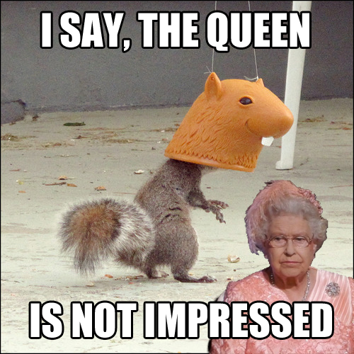 I Say, The Queen is Not Impressed | by Archie McPhee Seattle