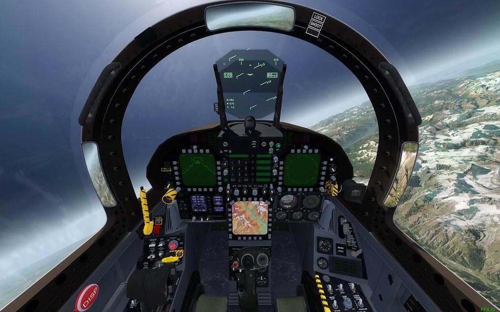 Screen capture of a flight in Aerofly Flight Sim