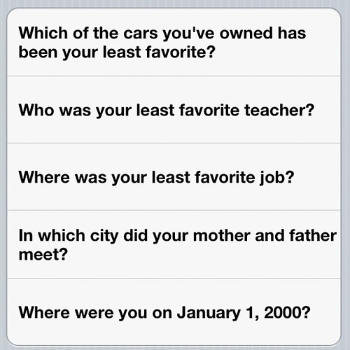 Unimpressed by Apple's stupid security questions | by Meg Pickard