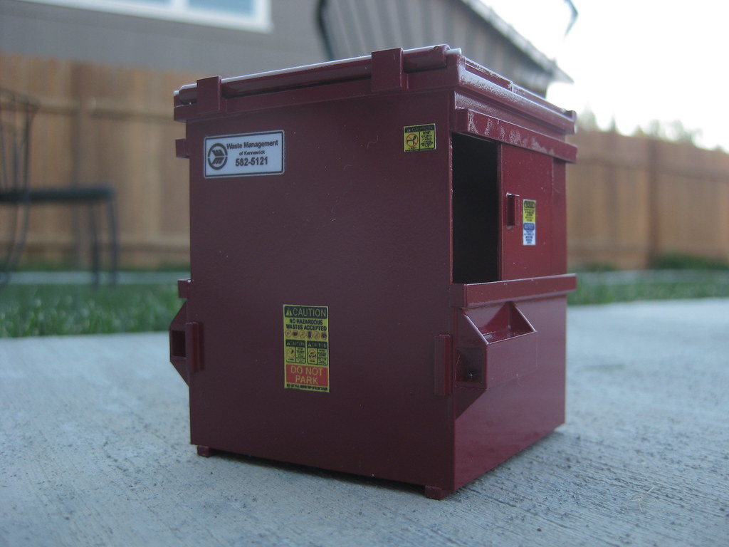 Handmade Model Dumpster Custom 1 34 Scale Dumpster