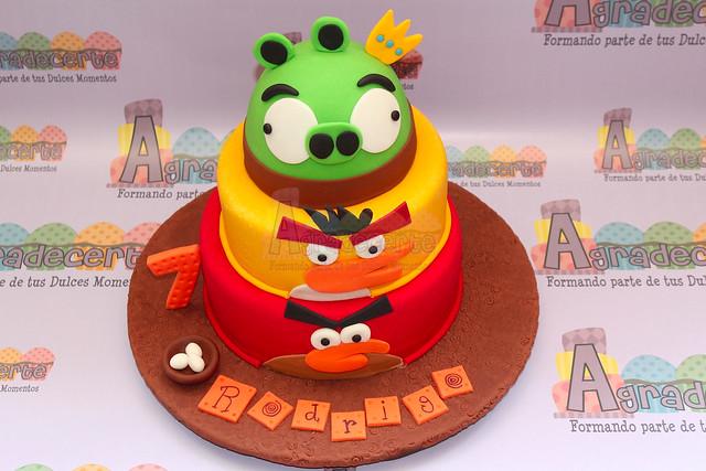 Angry Birds pastel fondant - Imagui