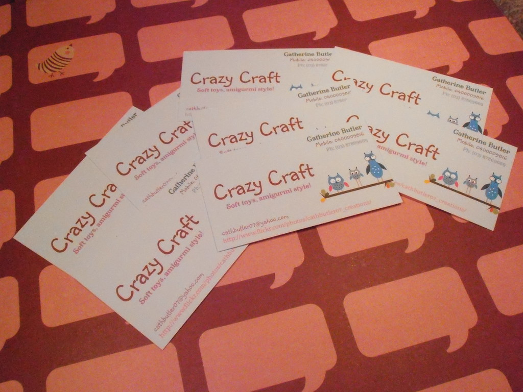 crazy craft business cards :  hi i finially ordered some …  flickr