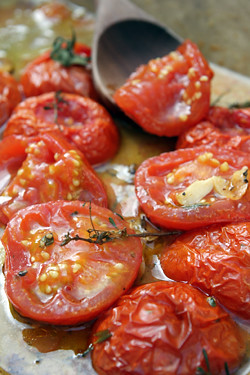 oven-roasted tomato recipe | by David Lebovitz