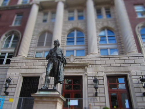 Statue in Front of Columbia School of Journalism | by danxoneil
