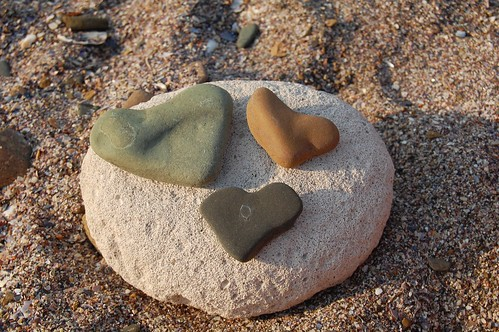 hearts of stone, town of Ahtopol, Bulgaria | by Vesy_nik
