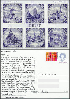 Postcrossing_1316314_front+back_censored | by Sanne van den Heuvel